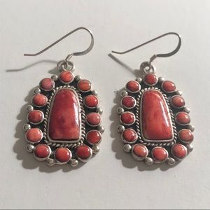 Jewelry - Coral and Sterling Earrings